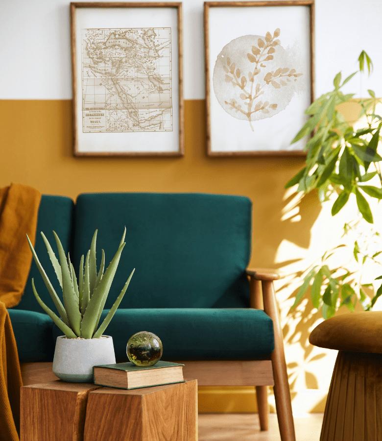 salon moderne home staging
